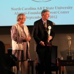 Nobel Peace Prize winner Muhammad Yunus and UNC President Tom Ross