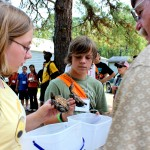 HERP students gather to share lessons learned and show off specimens found.