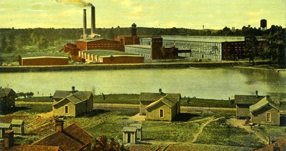 More details A division of Cone Mills with a mill village, ca. 1914