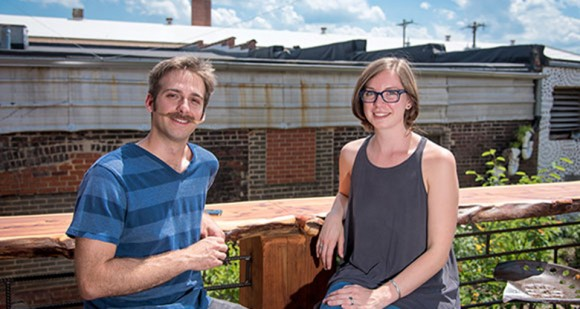 UNCG student Joe Rotondi (left) and UNCG alumna Sara Pilling-Kellogg '16 MPA (right)