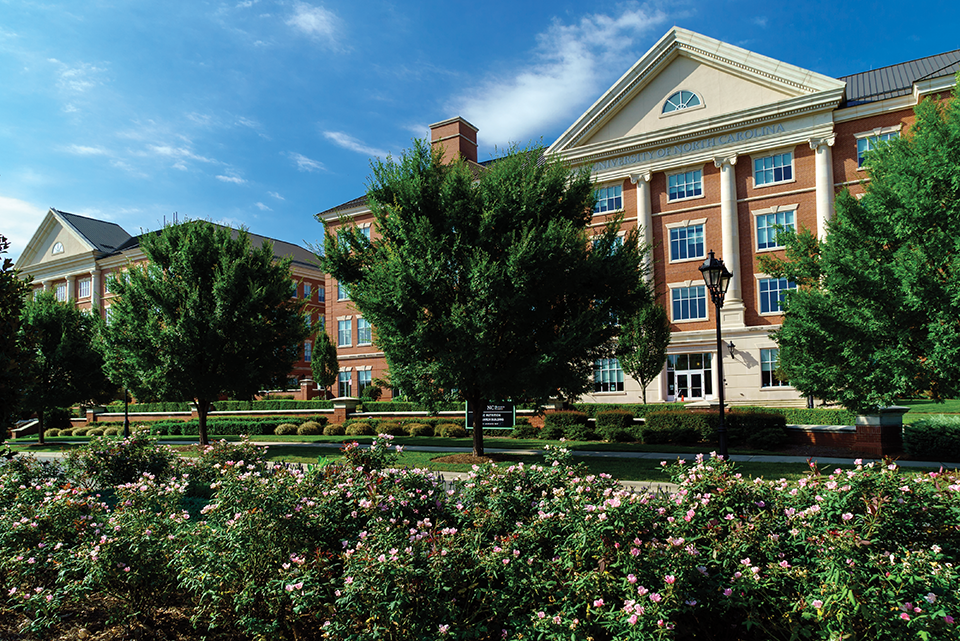 Eight NC universities maintain labs on the NC Research Campus, located in the former mill town of Kannapolis.