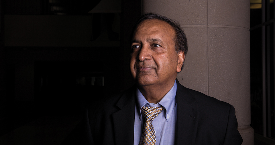 Professor Sat Gupta, associate head in the UNCG Department of Mathematics and Statistics. [Photo by Mike Dickens]