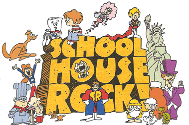 Official logo of Schoolhouse Rock! [wikimedia commons]