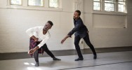 Photography by Mike Dickens of Cyrus (center) working with UNCG BFA graduate Devonte Wells